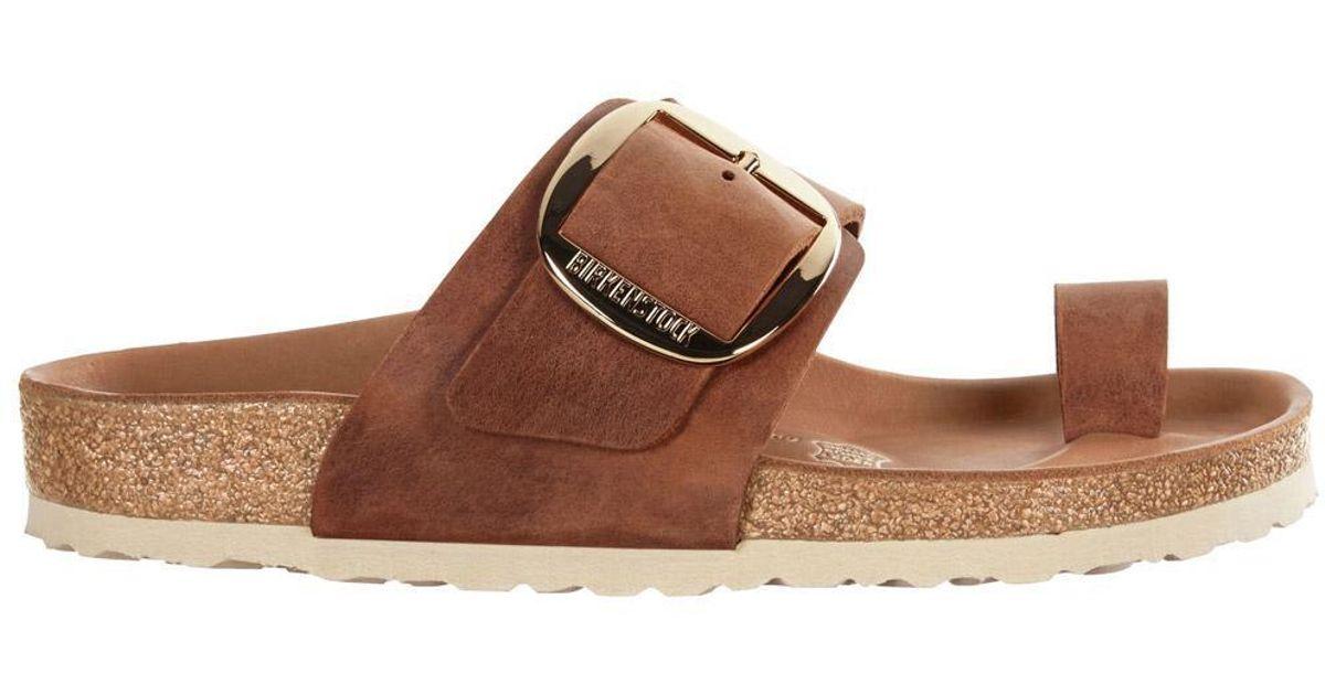 862a929e82cb Birkenstock Miramar Big Buckle Sandal Cognac in Brown - Lyst