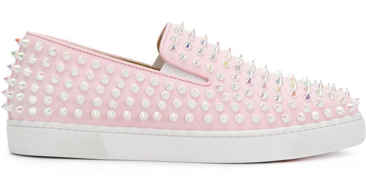 776fc0109a4 Christian Louboutin Pink Roller Boat Sneakers