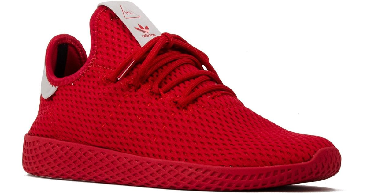 dc1573b7d Hu Red Lyst Pharrell Sneakers Originals Adidas Williams Tennis In TyqqUXSr