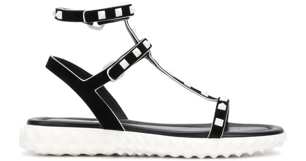 Free Rockstud Sandals in Shadow Pink Calsfskin and Plastic Valentino UNHm2