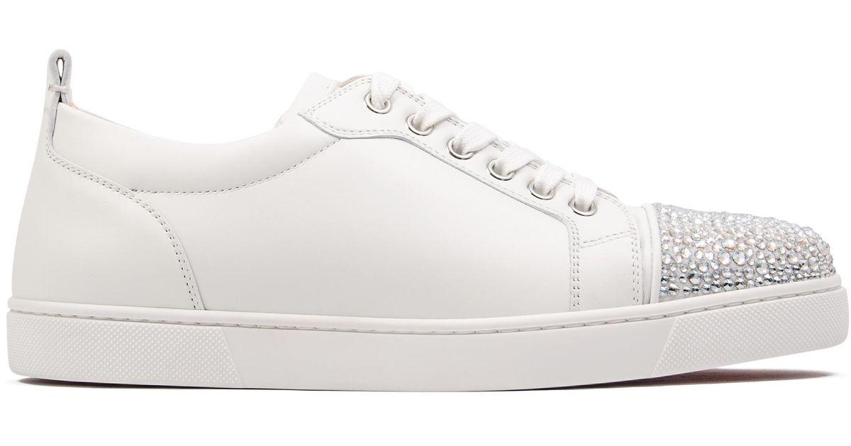17fc335c90b Christian Louboutin White Junior Strass Woman Flat Sneakers