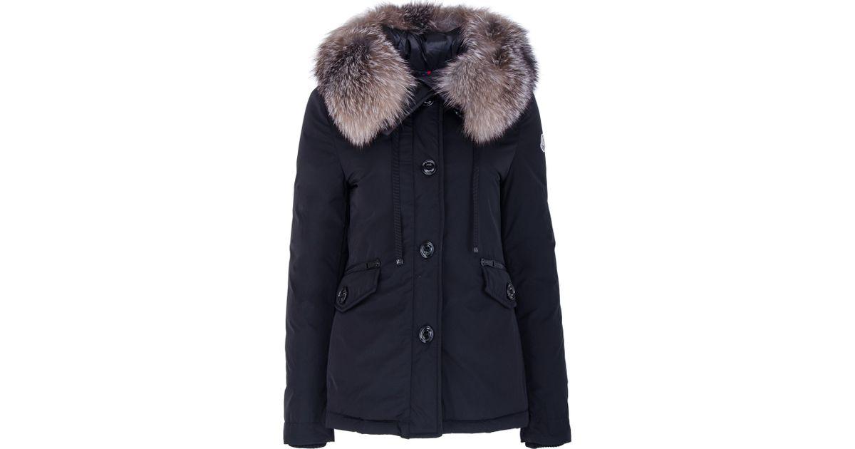 bb04ee63a Moncler Blue Malus Fur-trimmed Down Jacket