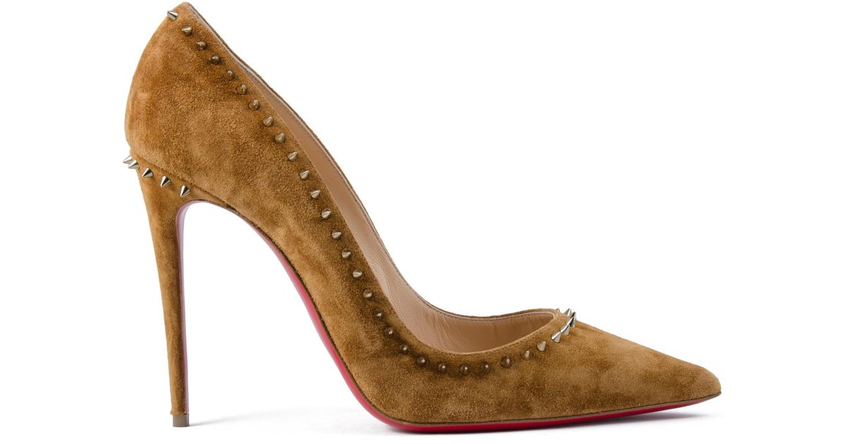 Lyst - Christian Louboutin Anjalina 100 Veau Velours Pumps 9275955552a