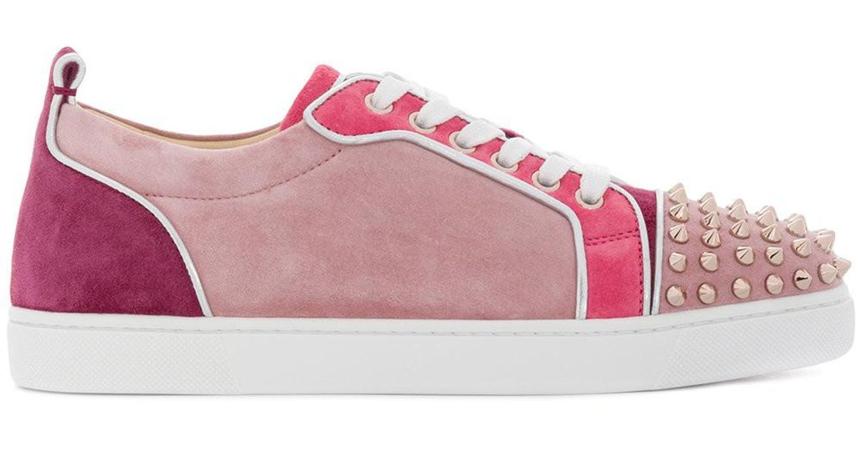 separation shoes 14790 16164 Christian Louboutin Pink Junior Spike Z Sneakers