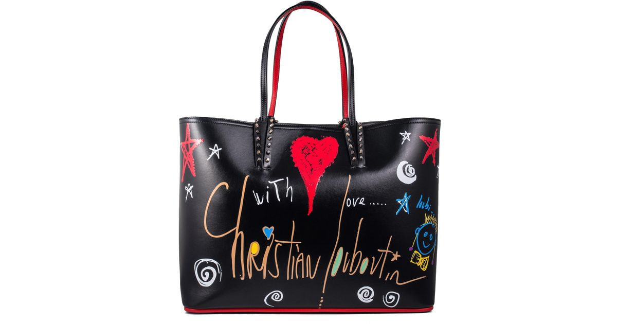 7f1d746d6462 Lyst - Christian Louboutin Cabata Tote in Red