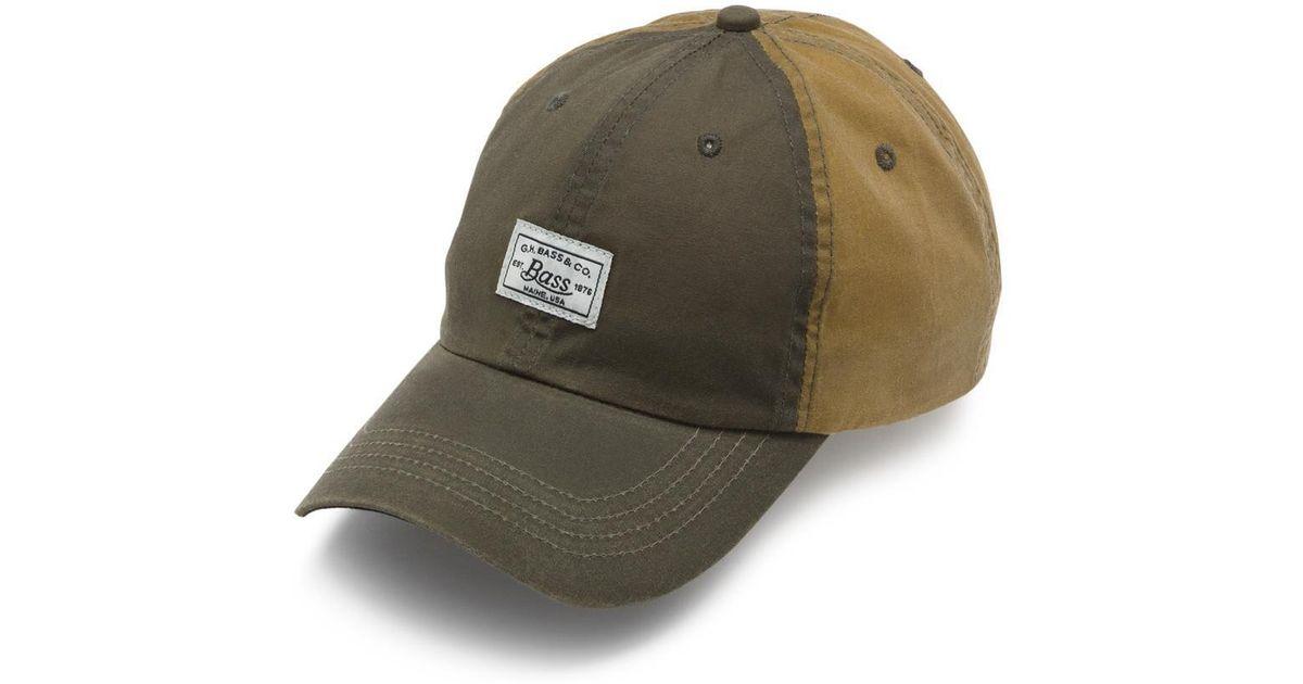 afbbc41ab91d5d Lyst - G.H.BASS Waxed Canvas Bass Logo Baseball Hat in Green for Men