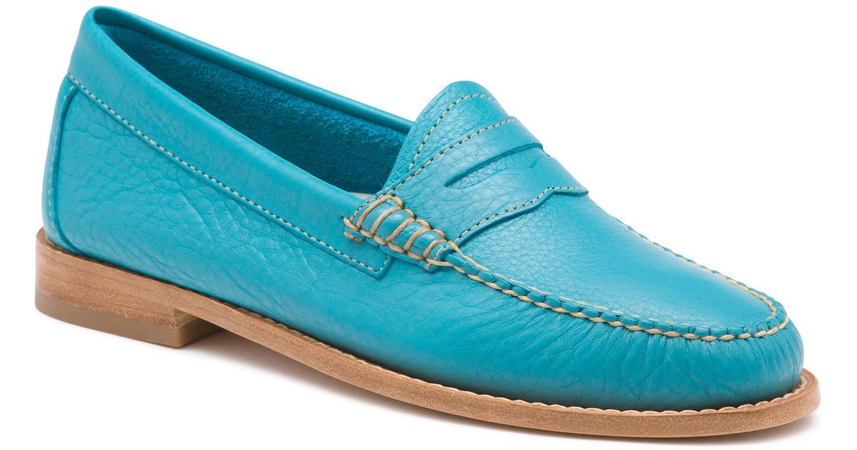 fcba6511fb8 Lyst - G.H.BASS Whitney Tumbled Leather Weejuns in Blue