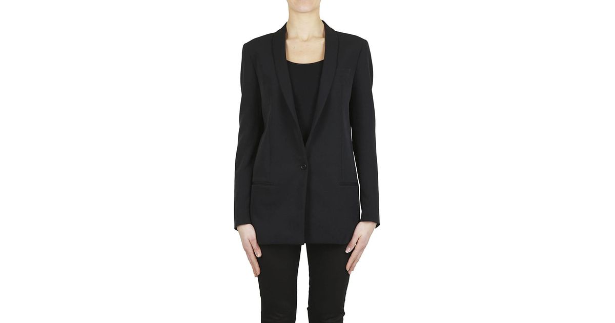 wholesale dealer 206aa 12e4a Tagliatore - Black TAGLIATORE Giacca lunga nera - Lyst