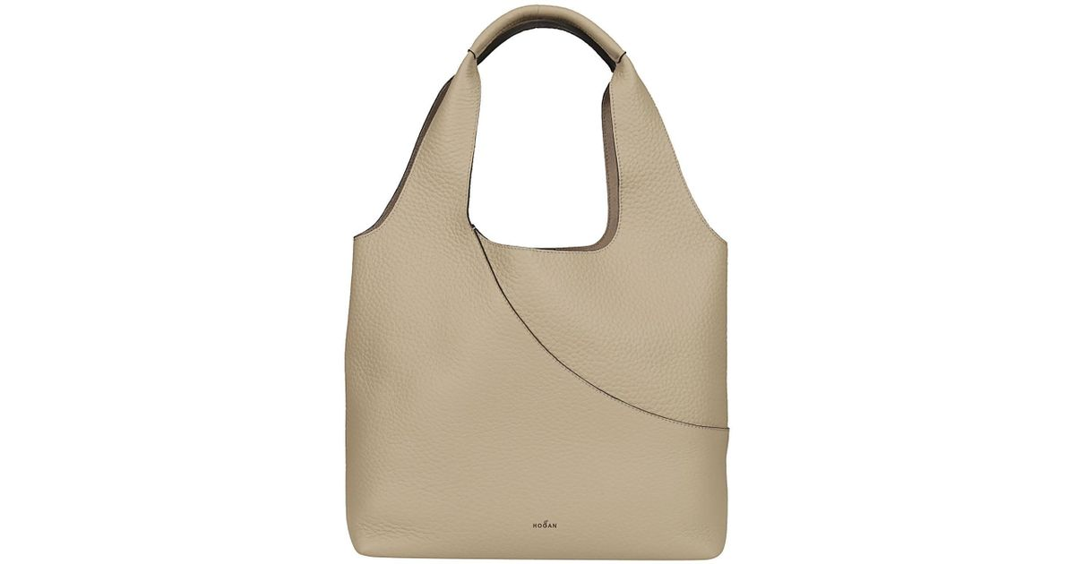 Lyst - Hogan HOGAN Shopper shopping sabbia in Brown 395842a4f1c29