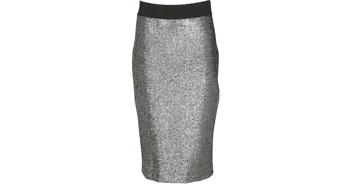 hot sale online 8b228 5c769 Boutique Moschino - Gray BOUTIQUE MOSCHINO Gonna tubino argento - Lyst