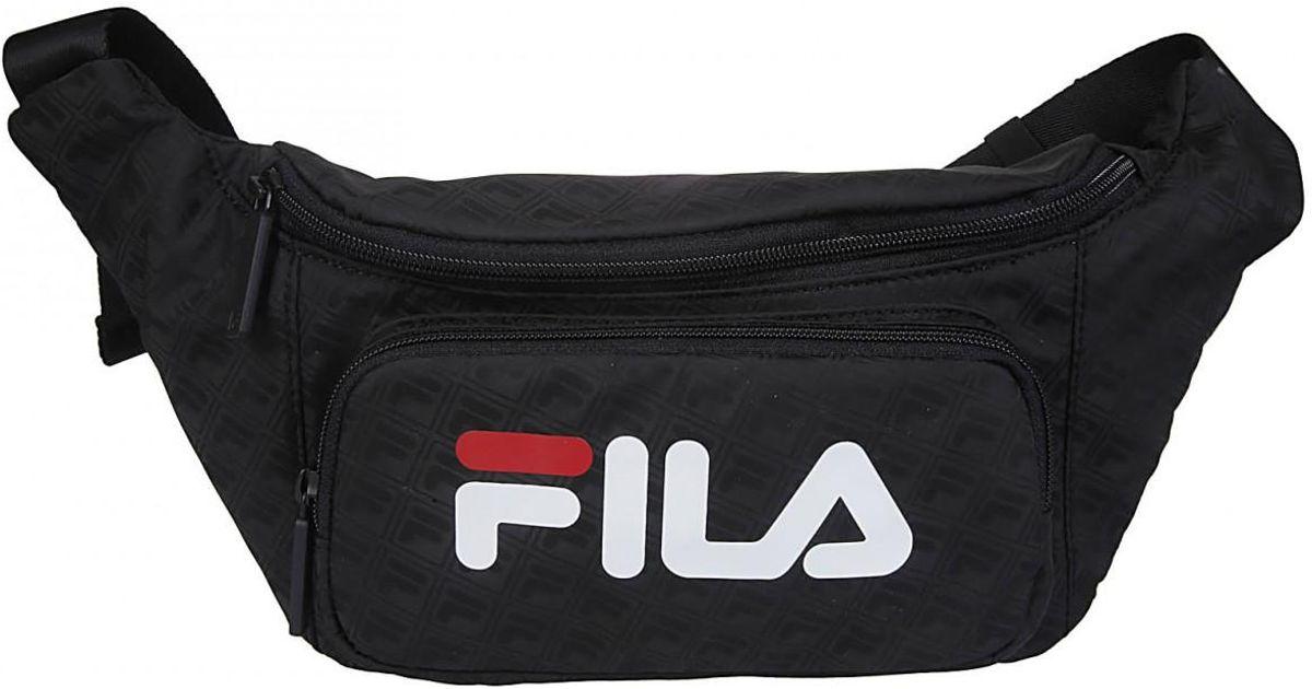 Fila Black FILA marsupio nero logo bianco for men
