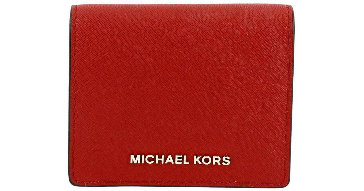 83636b0fd62 MICHAEL Michael Kors Red Wallet Women