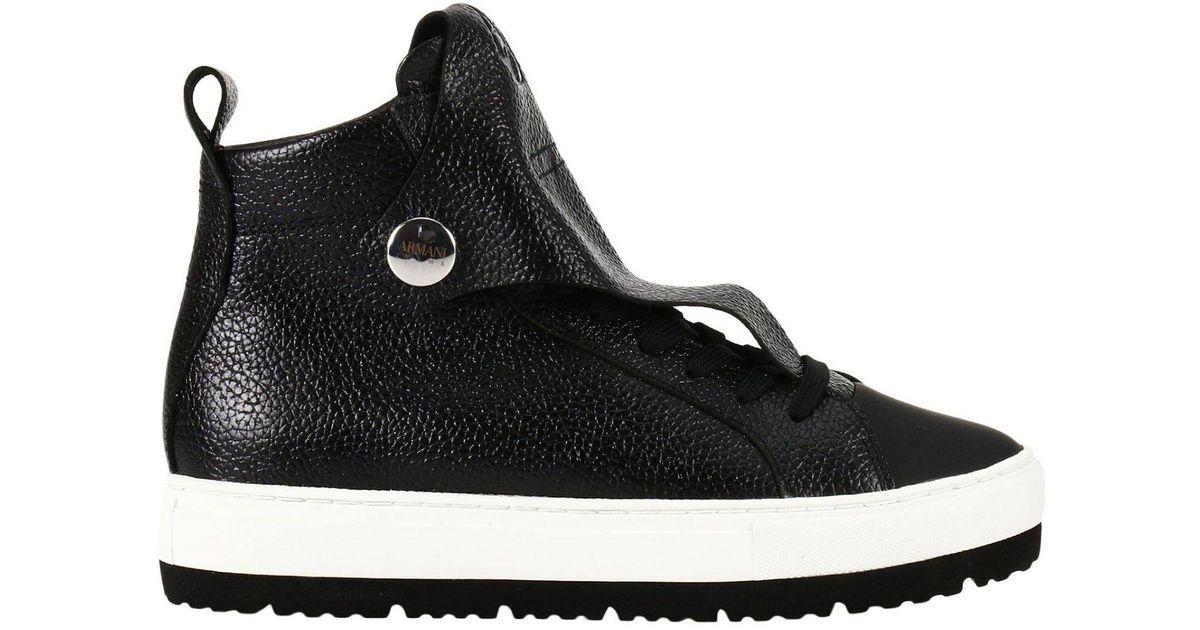 Armani Jeans Sneakers Women in Black - Lyst