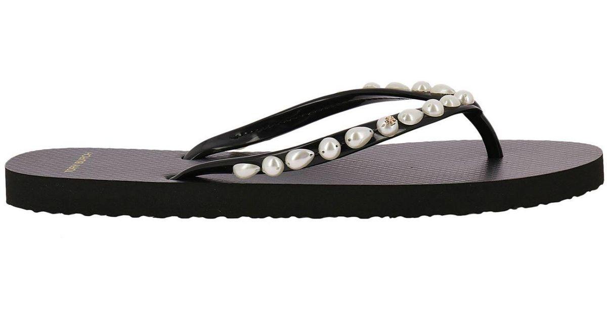 956df9c1664e Lyst - Tory Burch Flat Sandals Shoes Women in Black