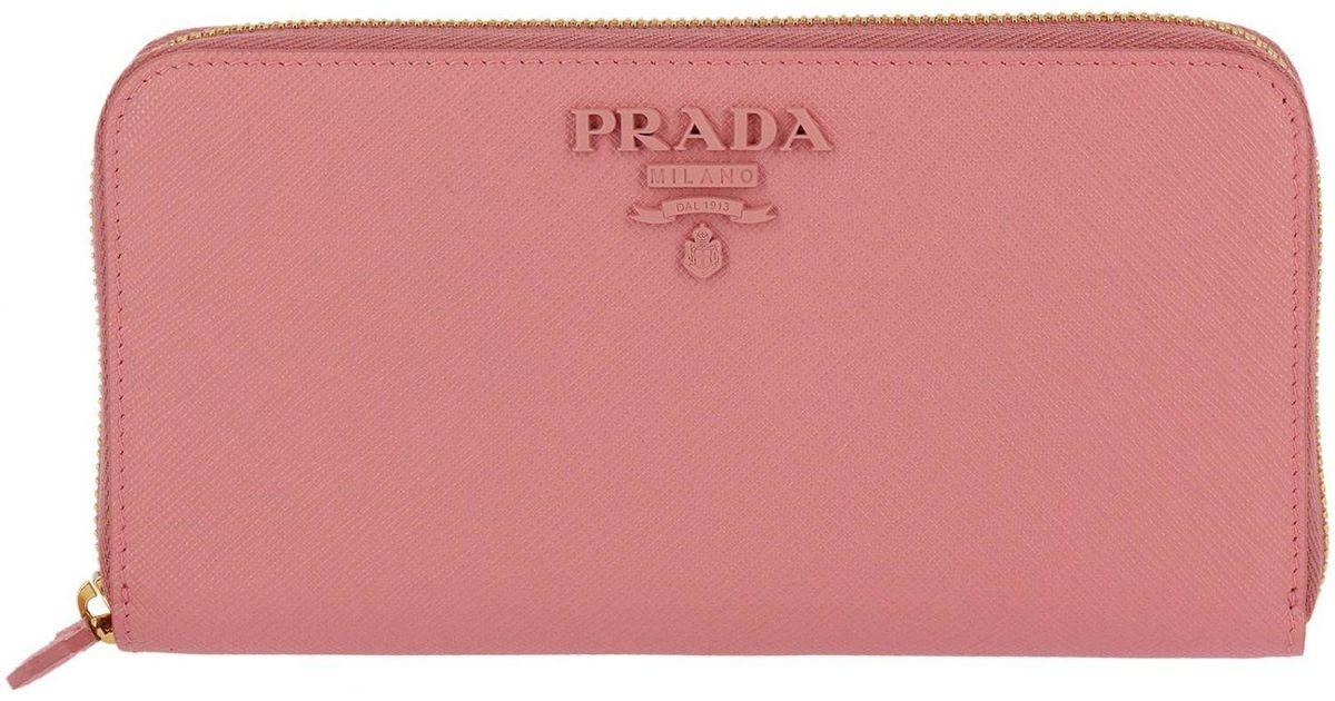 eee29827dea4 ... promo code lyst prada wallet women in pink e7d8c 8bfc7