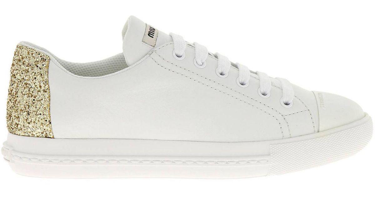 922c4698f492 Lyst - Miu Miu Sneakers Shoes Women in White