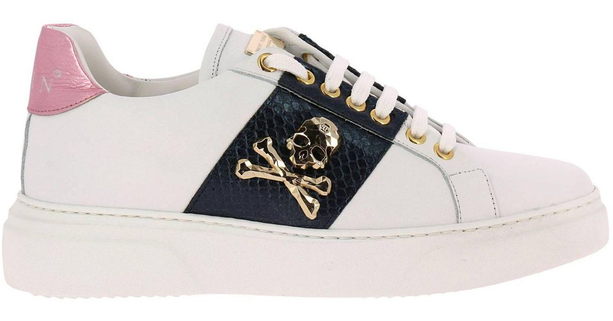Philipp Plein Leather Sneakers Shoes