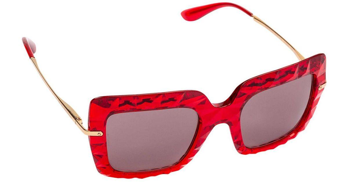 35f49d2d4a05 Dolce & Gabbana Sunglasses Women in Red - Lyst