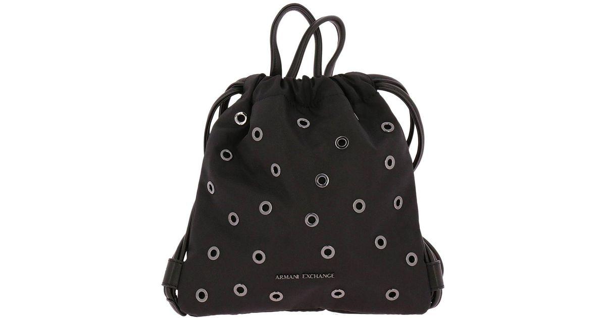 1ab5fce5e68a Lyst - Armani Exchange Backpack Shoulder Bag Women in Black