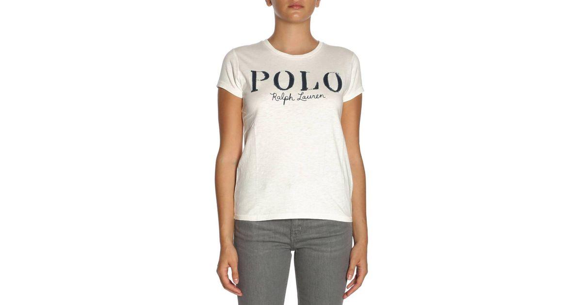 Polo Ralph Women White Shirt T Lauren dxeoCB
