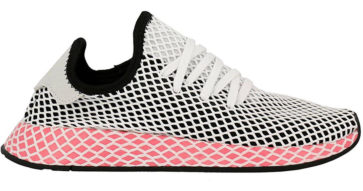 371b1b5d9c084c Lyst - adidas Originals Adidas Deerupt Runner W Sneakers In Knit And Mesh  Stretch Net Effect in Black