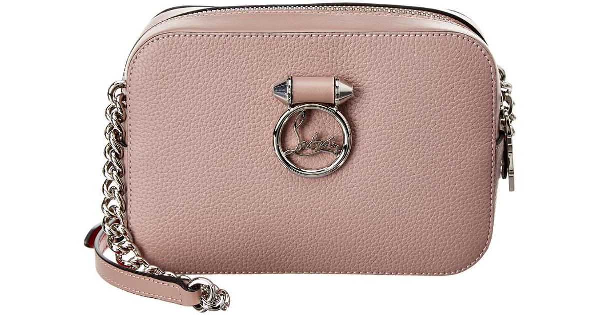 92cc666a6 Christian Louboutin Rubylou Mini Leather Crossbody in Pink - Lyst