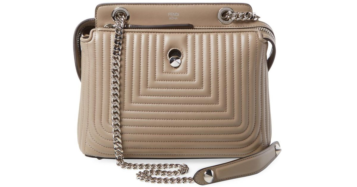 3e758b229e8c ... where to buy lyst fendi dotcom quilted small leather satchel bag in  natural 2d2e0 9d5eb ...