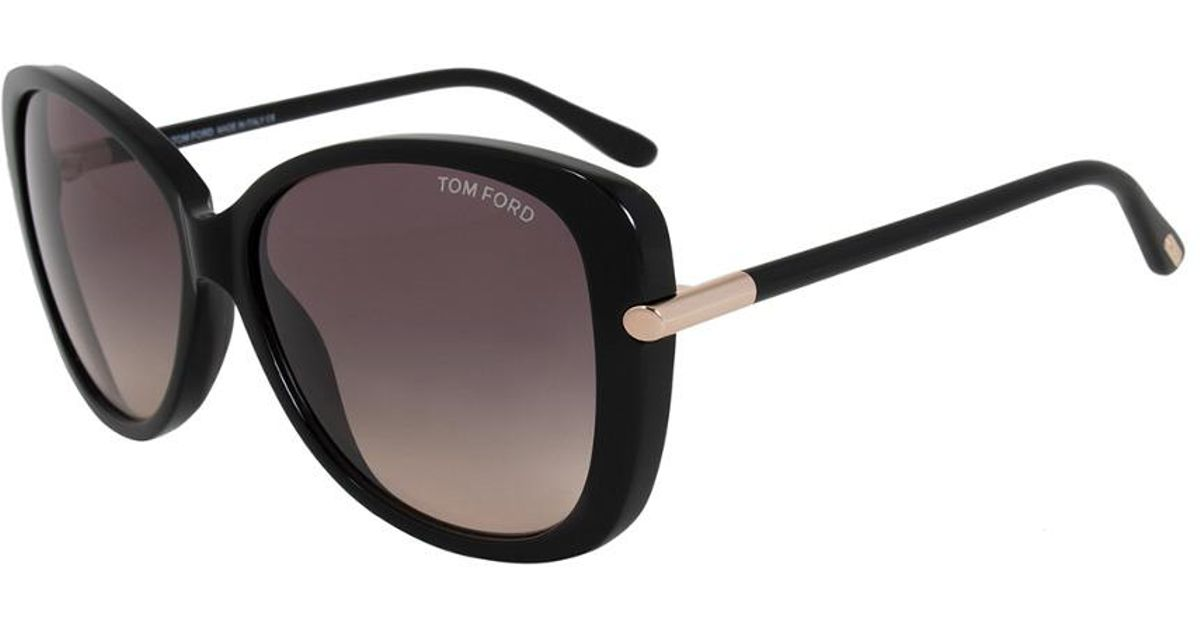 bd7b966561e4e Image of Tom Ford Linda 59mm Sunglasses Source · Lyst Tom Ford Women s Linda  Butterfly Sunglasses Ft0324 01b 59
