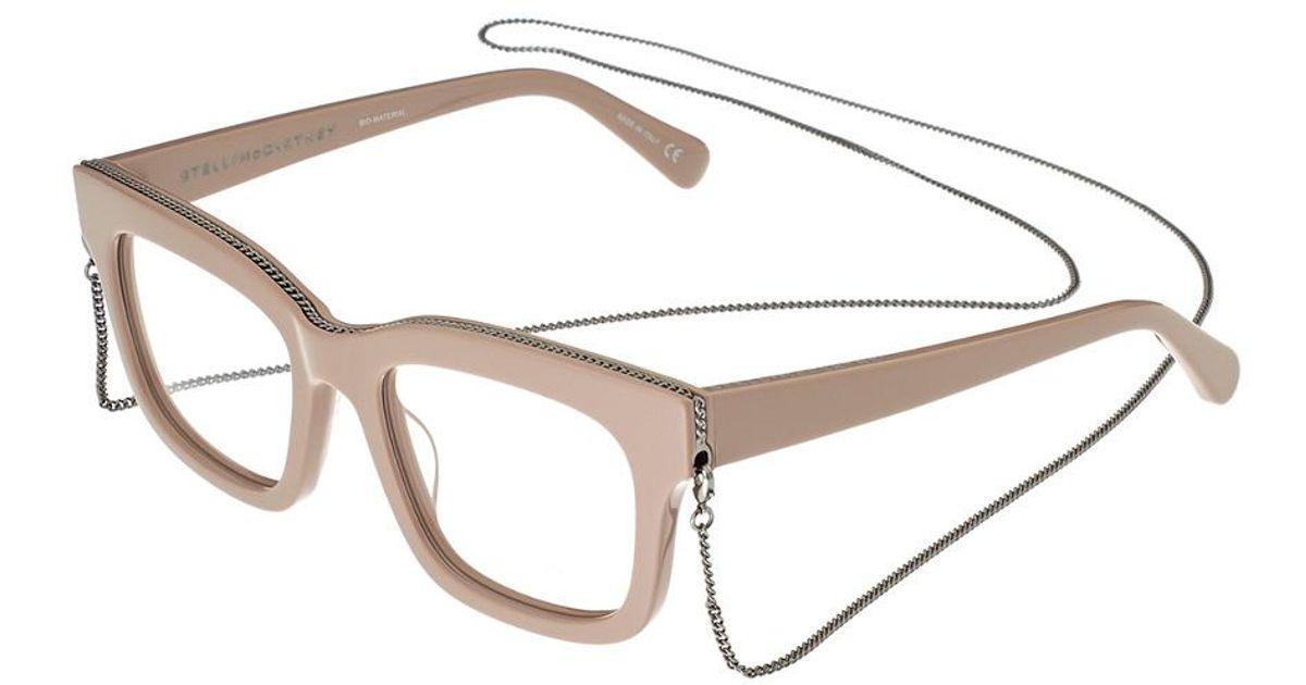 ce70f29d76 Lyst - Stella McCartney Sc0045o-30000603004 50mm Optical Frames in Pink
