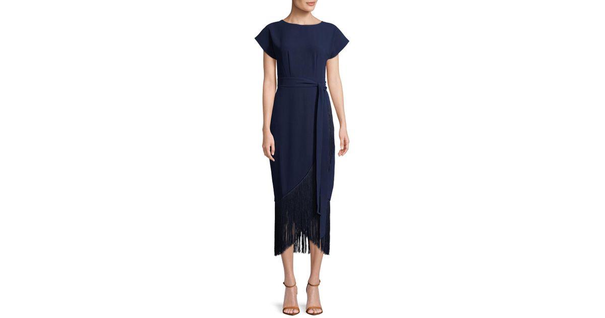 RACHEL Rachel Roy Womens Fringe Midi Dress