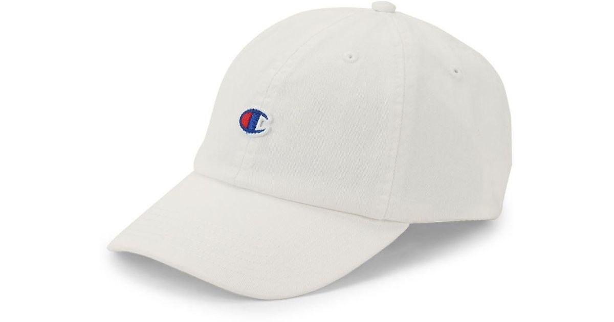 8693b7d200f ... discount code for lyst champion our father dad cotton baseball cap in  white for men aca2c