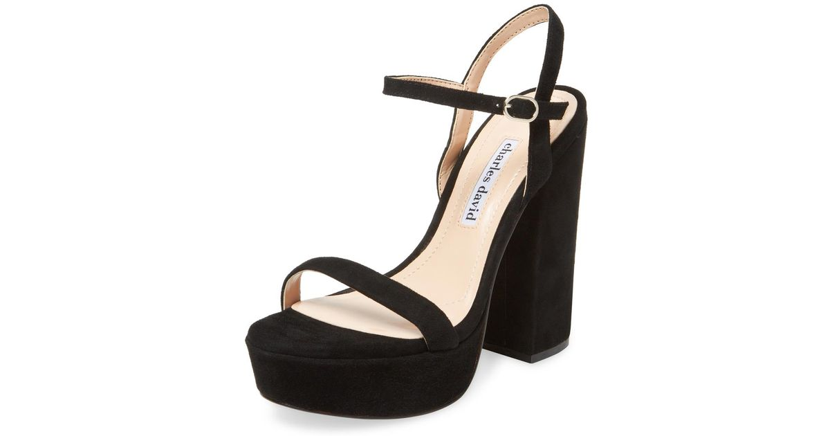 a9bdace24160 Lyst - Charles David Regal Leather Sandal in Black