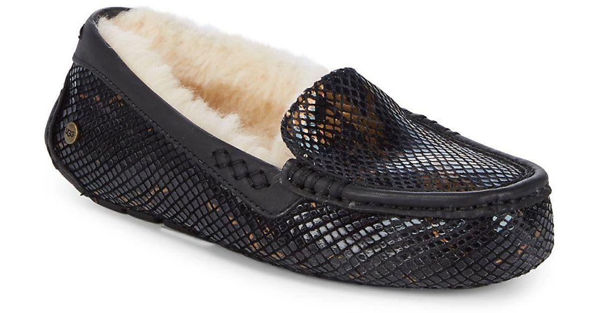 2a590a619c0 Ugg Black Ansley Exotic Velvet Slippers