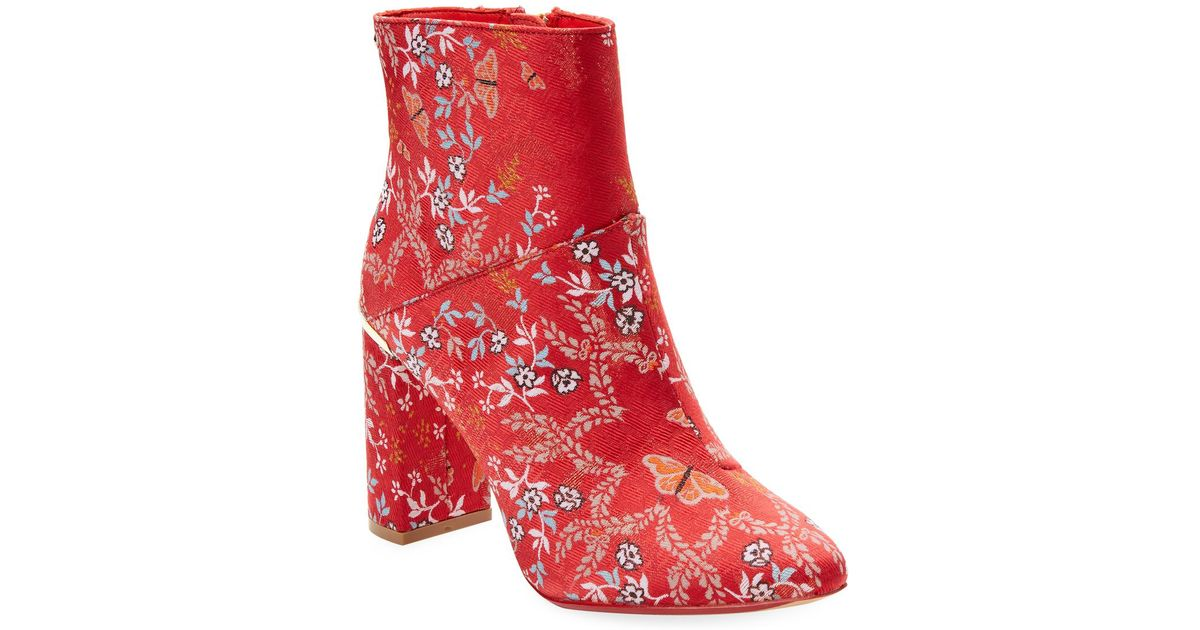 amazing quality diversified latest designs the sale of shoes Ted Baker Red Ishbel Kyoto Bootie