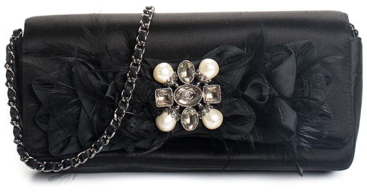 2a78ff98cf Chanel Limited Edition Black Satin Gripoix Byzance Shoulder Bag, Never  Carried in Black - Lyst