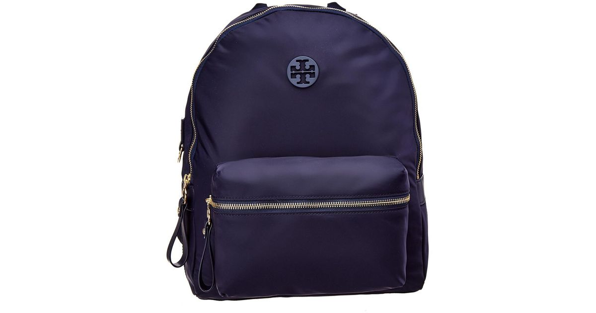01a317b343074 Tory Burch Tilda Logo Patch Nylon Backpack in Blue - Save 21% - Lyst