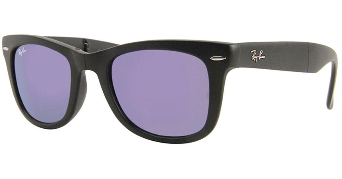 533ca2546 Lyst - Ray-Ban Classic Folding Wayfarer Frame in Purple