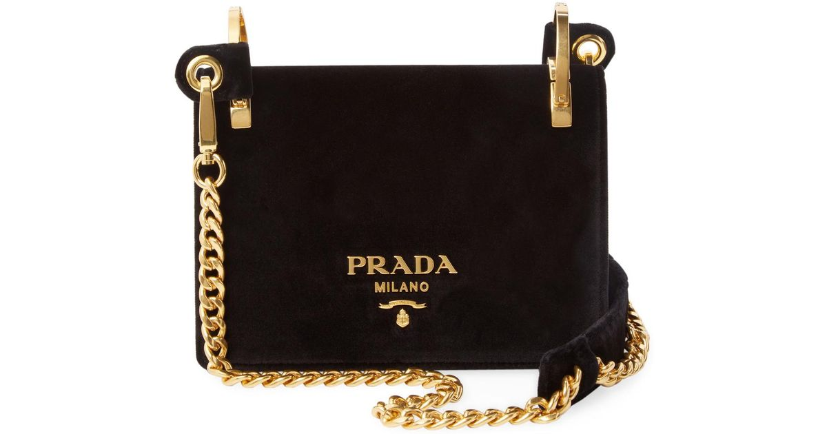 d5413f6cfc20 ... sweden lyst prada chain shoulder bag in black 13585 3b22a