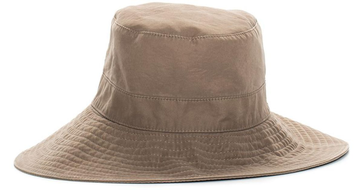 5397ce86a22acc Hermès Brown Bucket Hat, Size Fr 56 in Brown - Lyst