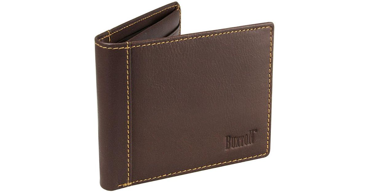 Buxton King Convertible Genuine Leather Billfold Wallet Brown
