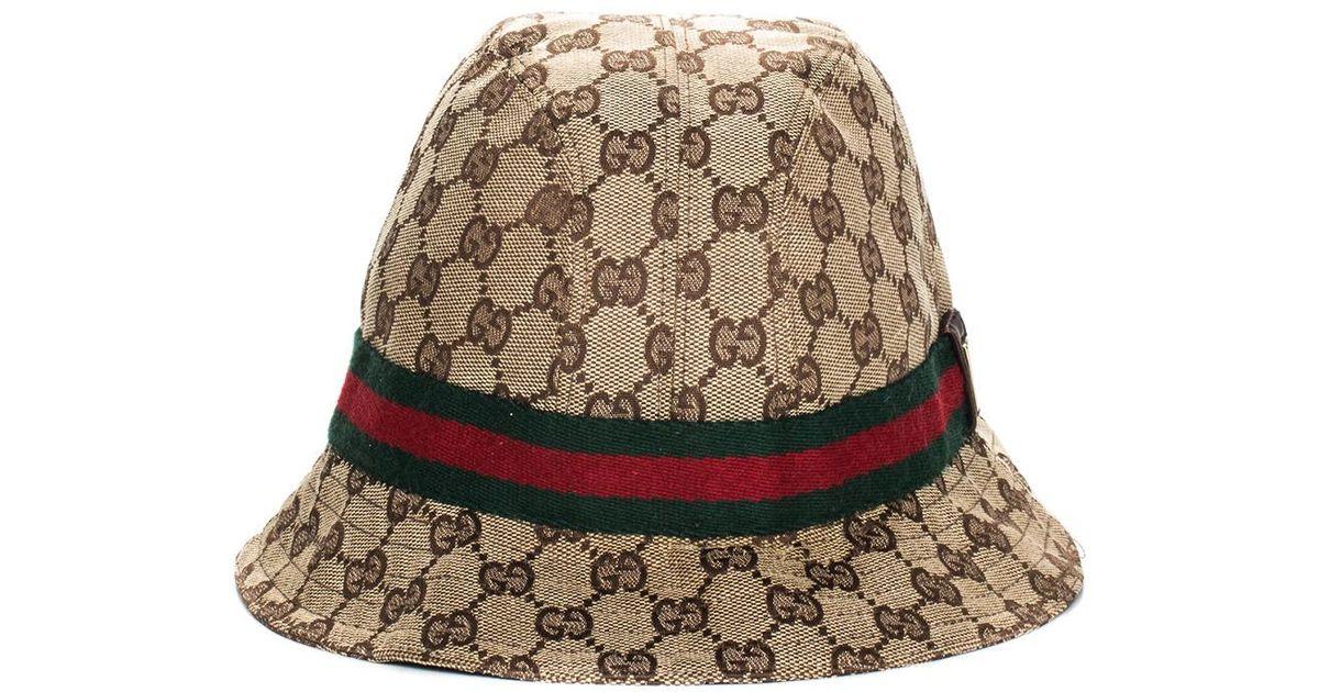 712a6332ef225 Gucci GG Canvas Bucket Hat - Lyst