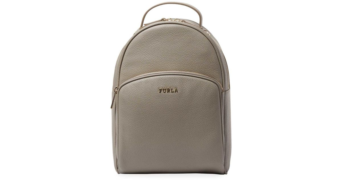 708e517917 Lyst - Furla Selena Leather Backpack in Gray