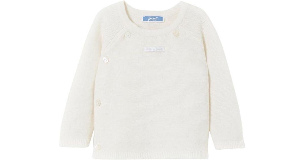 6d05fb042cd4 Lyst - Jacadi Nature Cardigan in White