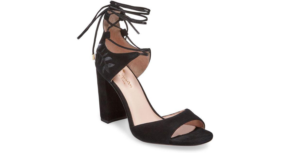 26a726ff967 Kate Spade Oasis High Heel Sandal in Black - Lyst