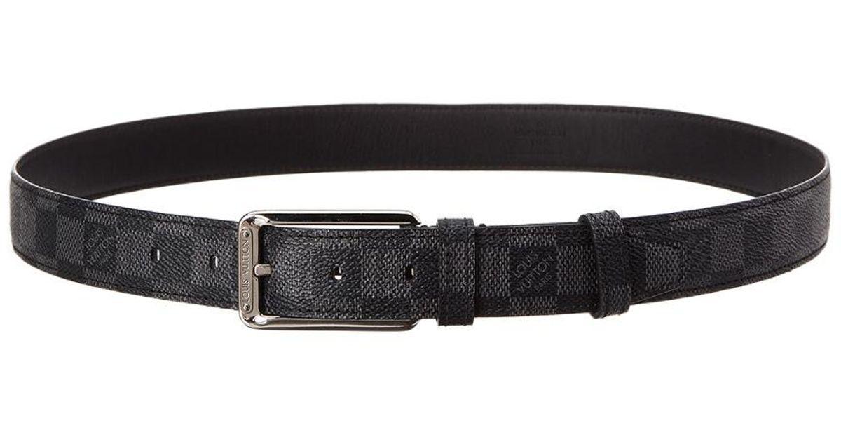Lyst - Louis Vuitton Damier Graphite Canvas Ceinture Belt (size 90) in Black 5029859abce