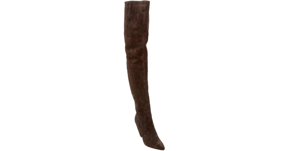 41096425058 Lyst - Kenneth Cole New York Galway Suede Over-the-knee Boot in Brown