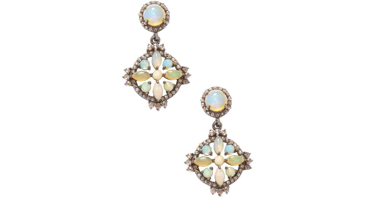 Bavna Opal & Diamond Pavé Teardrop Earrings KVdGZG