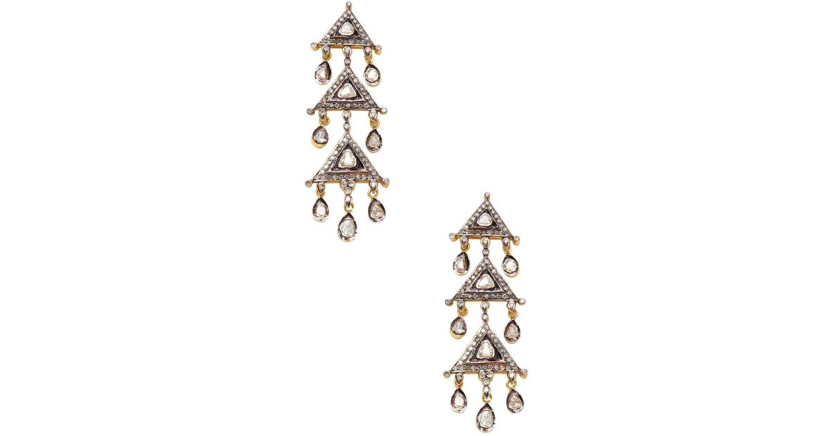 lyst earrings amrapali citrine yellow gold jewelry in tourmaline silver drop diamond