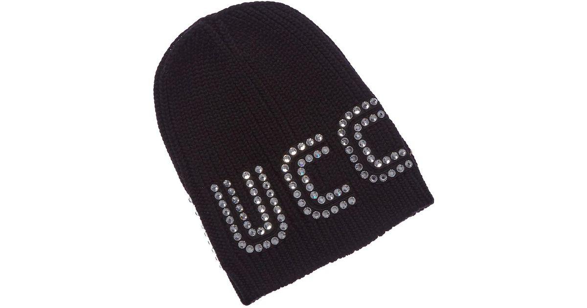 Gucci Game Guccy Rib-knit Wool Beanie in Black - Lyst eea79c0cabec