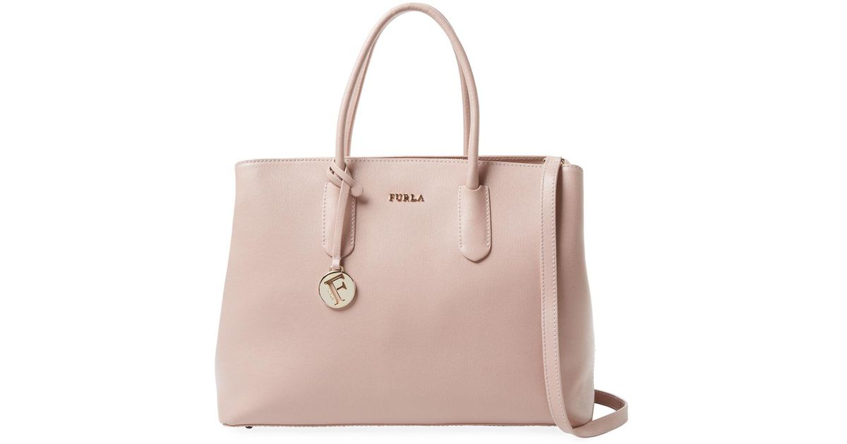 hot product super cheap best sale Furla Tessa Leather Tote - Lyst